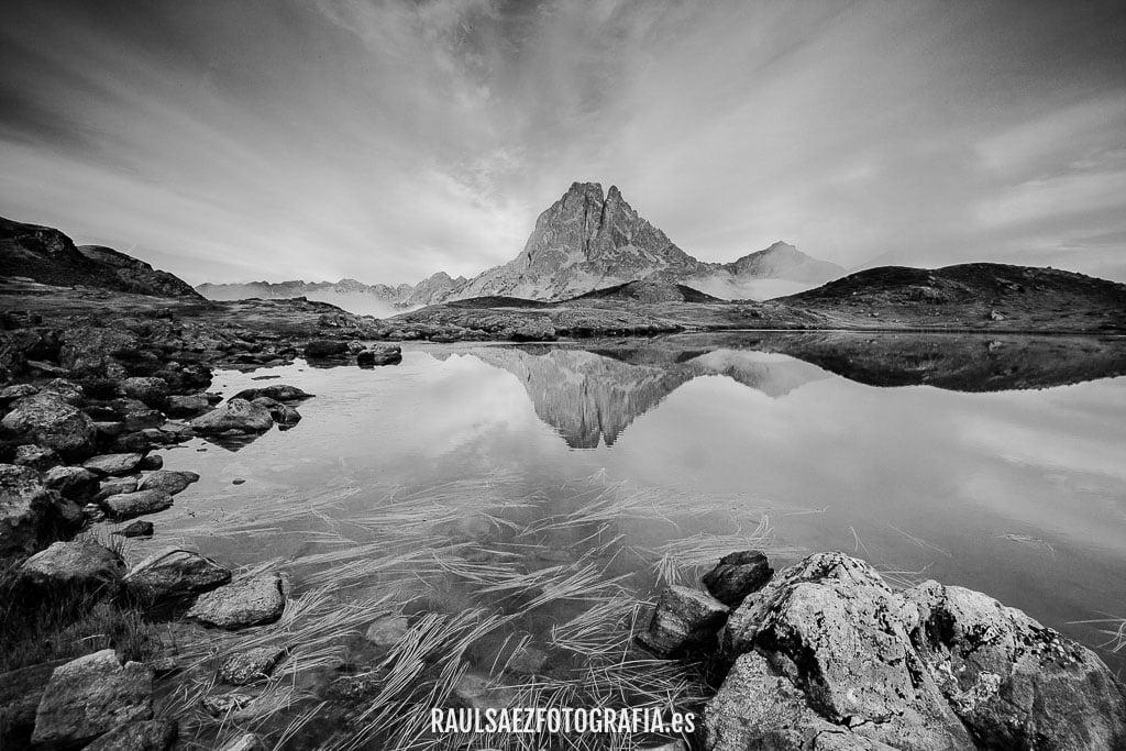 lago, midi d'osaau, montaña, paisaje, pirineos