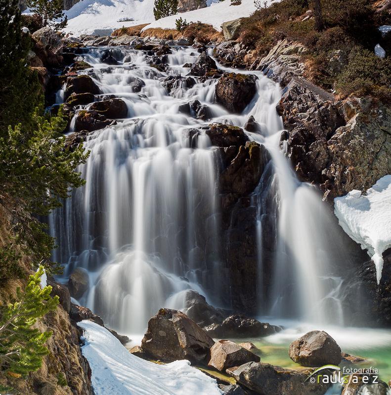 aigualluts, cascada, montaña, paisaje