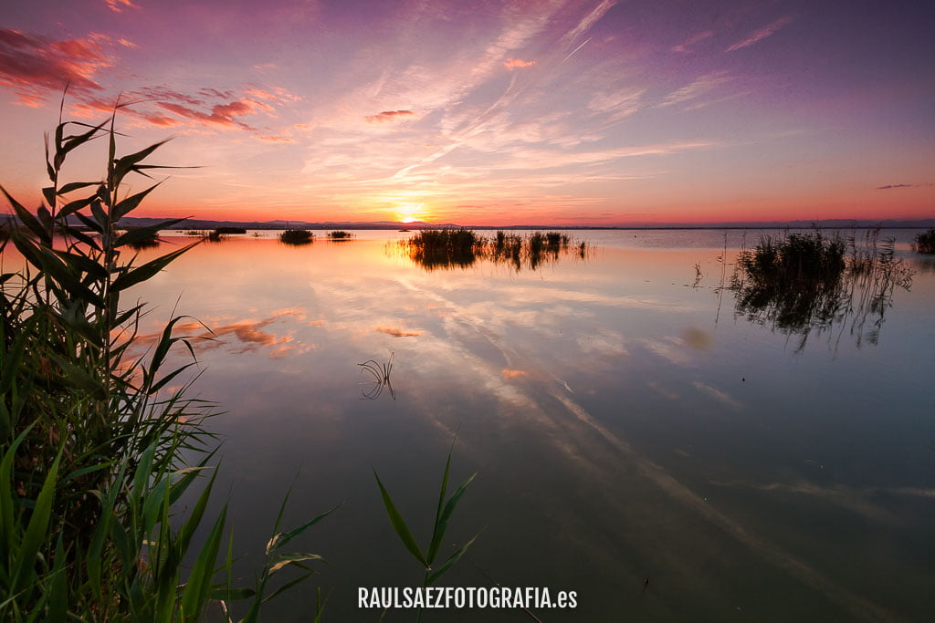 albufera, atardecer, lago, paisaje, valencia