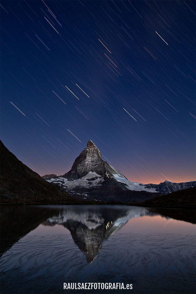 El Matterhorn bajo las estrellas - Lluvia nocturna 3