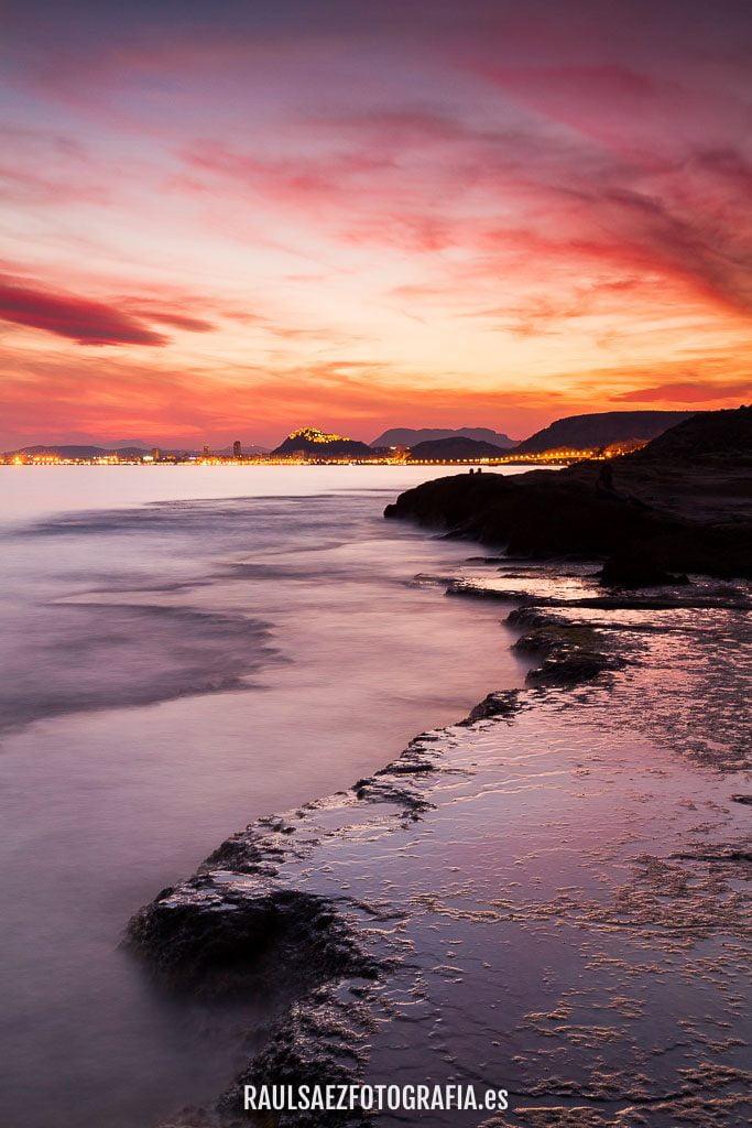 Atardecer en el Cabo Huertas de Alicante 8