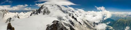 Panorámica del macizo del Montblanc